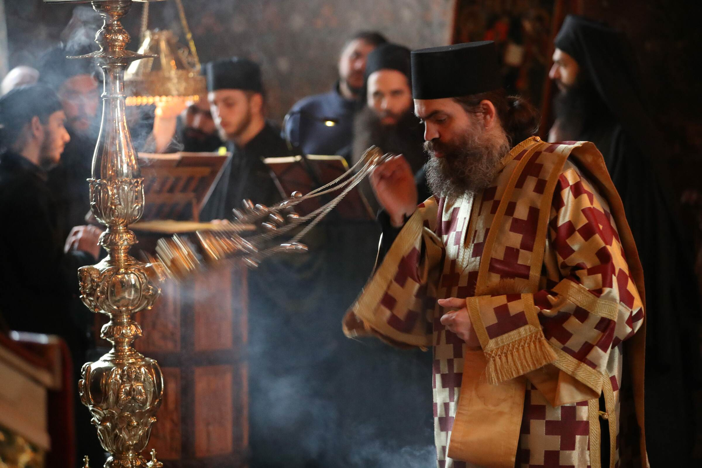 vespers - Ascetic Experience, Vatopaidi (Vatopedi), Mount Athos, Holy Mountain