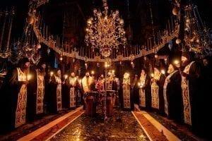 memorial service - Ascetic Experience, Vatopaidi (Vatopedi), Mount Athos, Holy Mountain