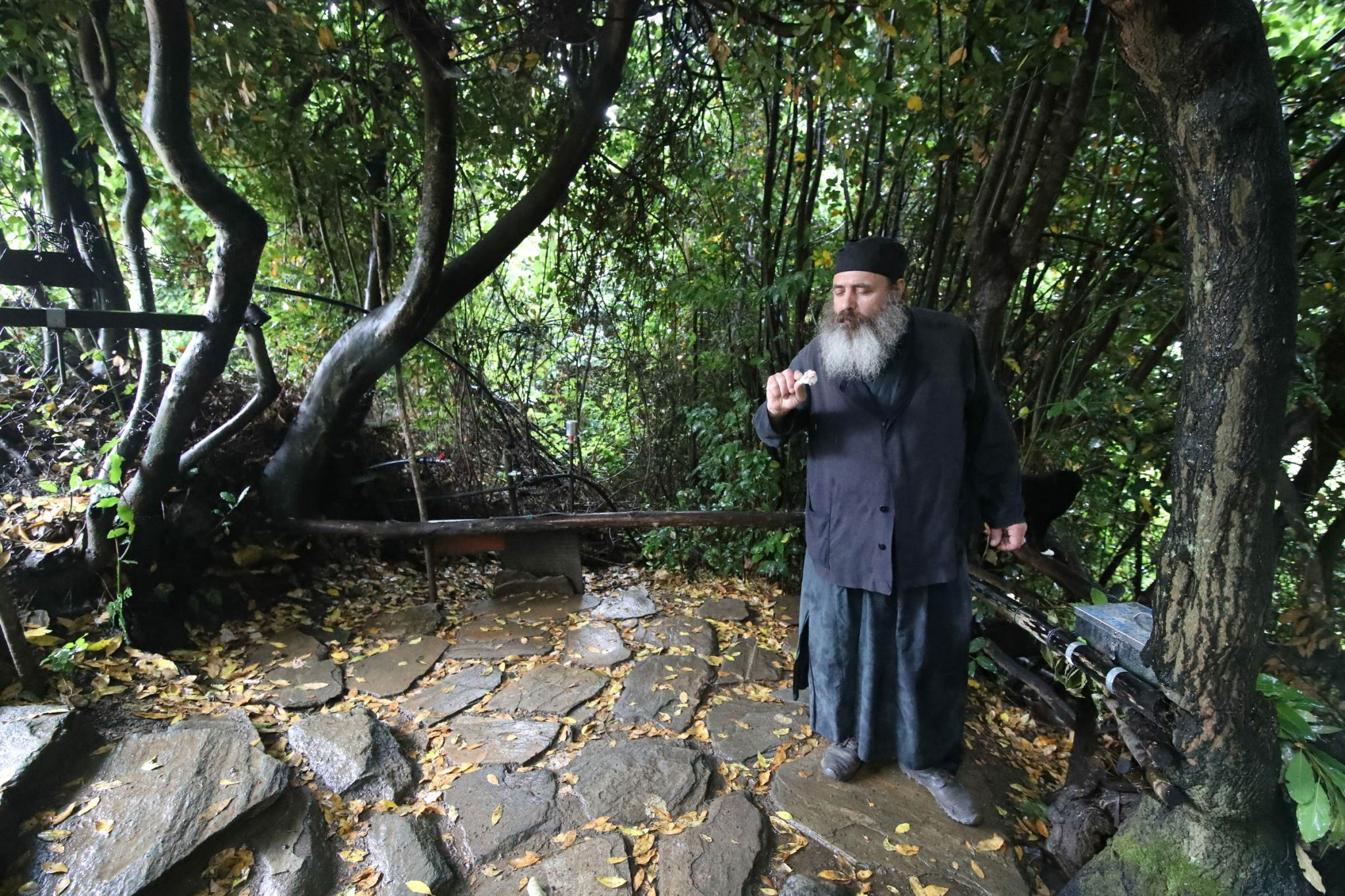 Paisios of Mount Athos' cell - entrance