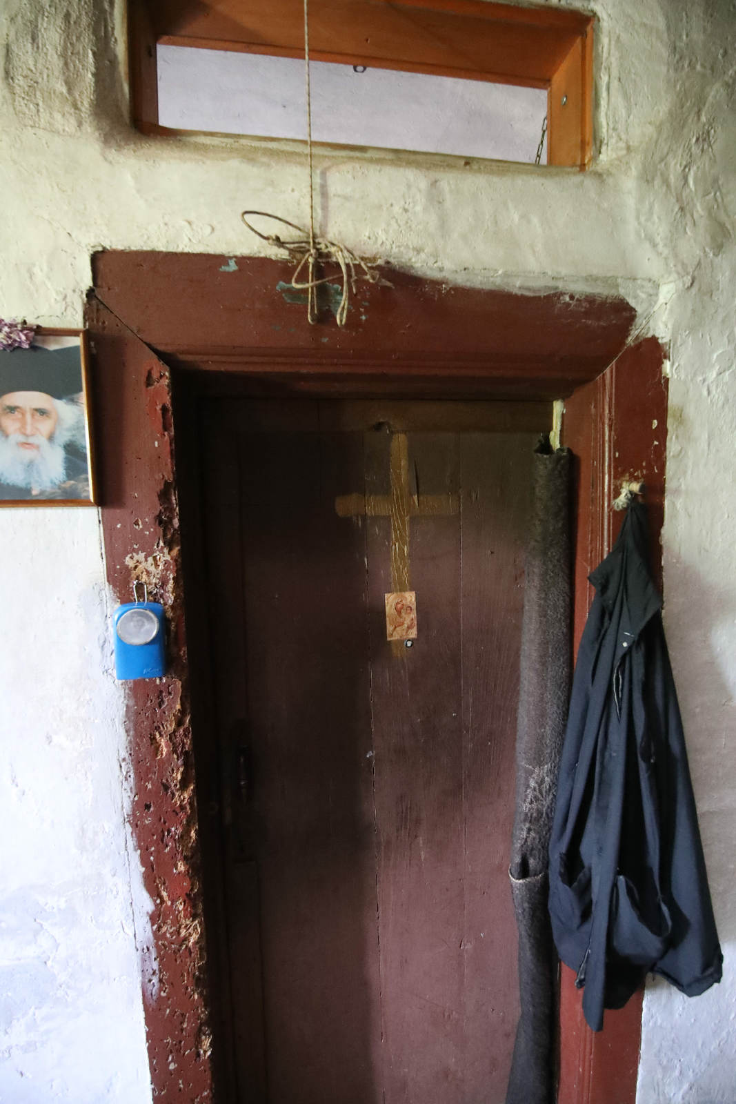 Paisios of Mount Athos' cell - his door