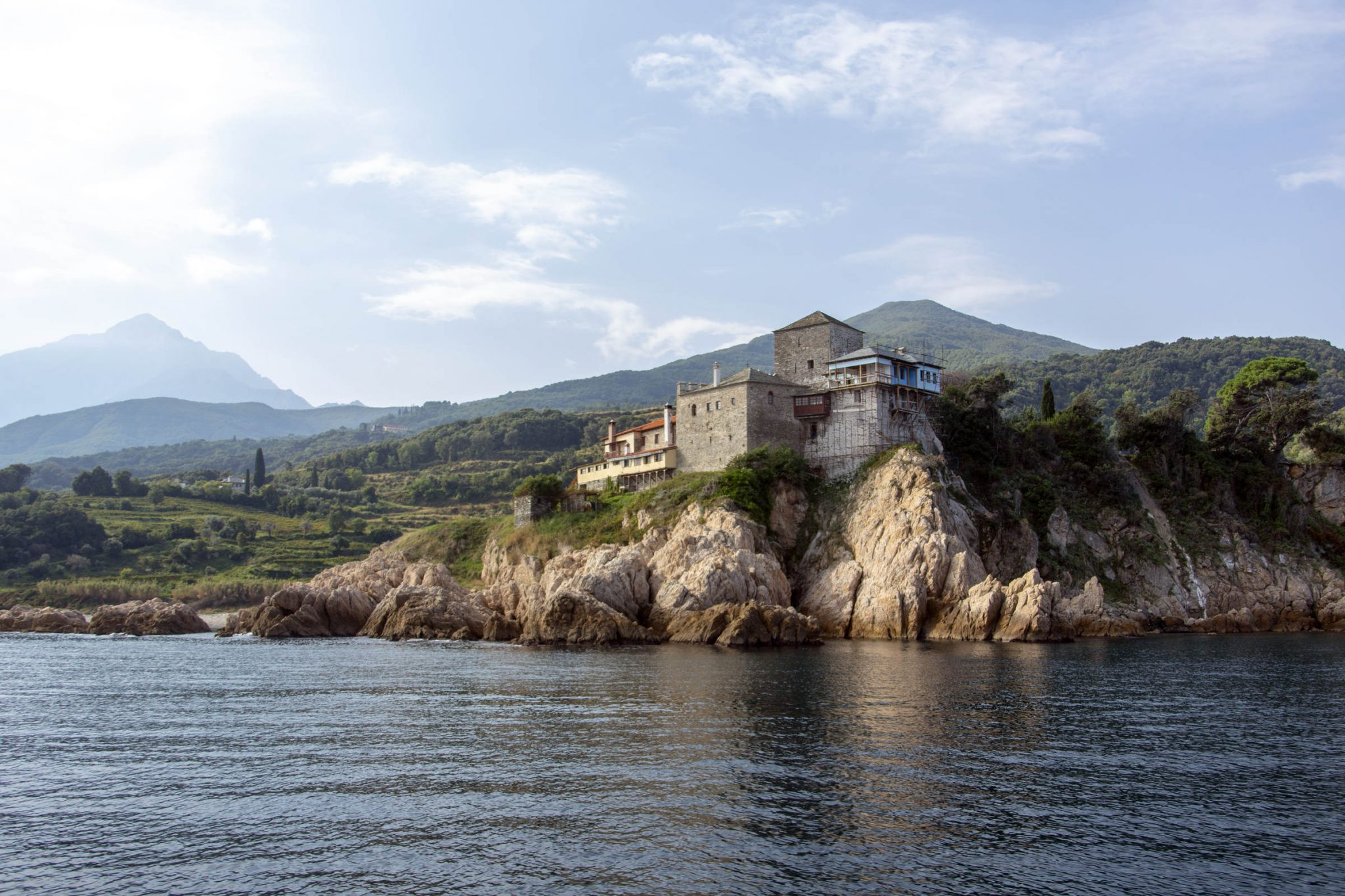 The cell of Mylopotamos, Mount Athos
