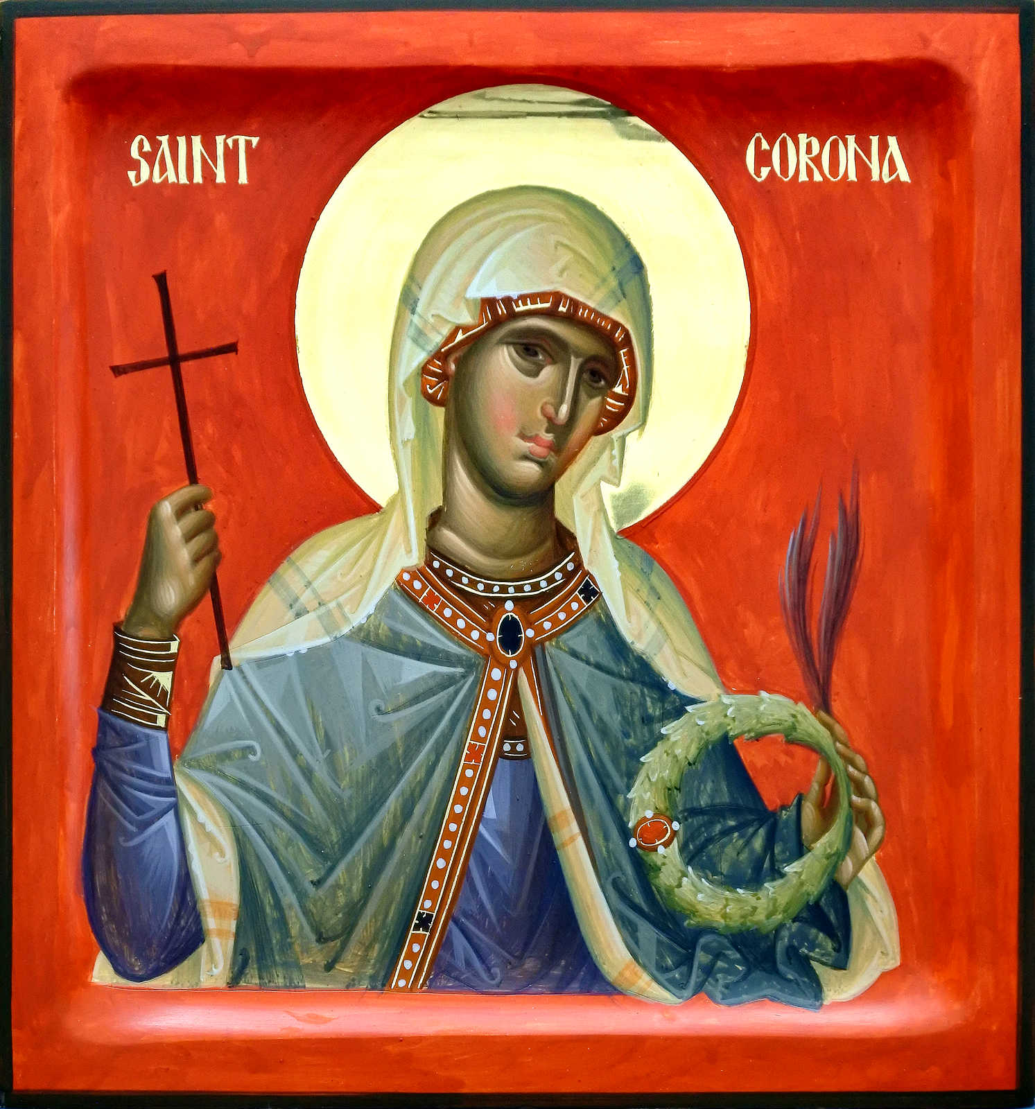 Who are the patron saints? (St. Charalampos, St. Corona, St. Nikephoros)